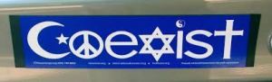 Bumper Sticker Coexist