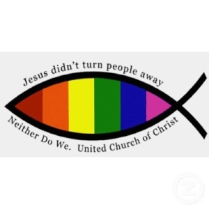 Jesus didn't reject people. Neither do we. United Church of Christ.